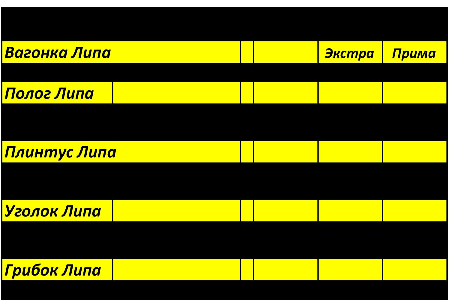 прайс-лист пиломатериалы из липы